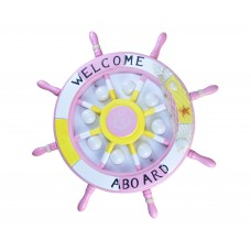 Светильник Kink Light 07427,10 ШТУРВАЛ розовый d60 h10 Led 24W