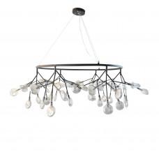 Люстра Ветта черный (прозрачные плафоны) d115 h160 G4 54*2W (Led лампы в комплекте, 4000K) (высота корпуса светильника h40)
