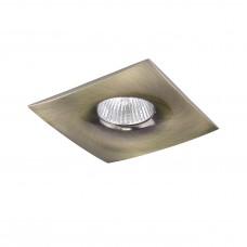 Встраиваемый светильник Lightstar 010031 Levigo Зеленая бронза