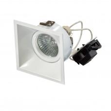 "Встраиваемый светильник ""кардан"" Lightstar 214506 Domino QUADRO Белый"