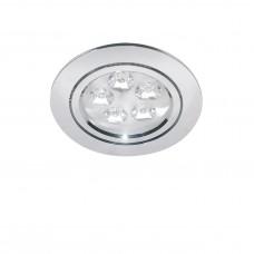 Встраиваемый светодиодный светильник Lightstar 070052 Acuto 5 Вт 450Lm 3000K Хром