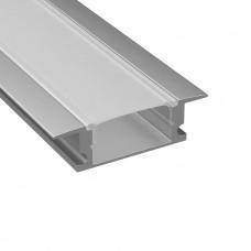 Профиль Lightstar 409309 с прямоугольным рассеивателем для светодиодной ленты, материал: алюминий, 1шт=3м