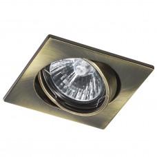 Встраиваемый светильник Lightstar 011941 Lega 16 Зеленая бронза