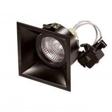 """Встраиваемый светильник """"кардан"""" Lightstar 214507 Domino QUADRO Черный"""