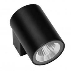 Уличный настенный светильник Lightstar 350672 Paro 8 Вт 600Lm 3000K Черный