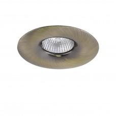Встраиваемый светильник Lightstar 010011 Levigo Зеленая бронза