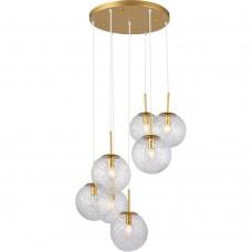 Светильник подвесной Alyse TL1215H-07TR Toplight золотой