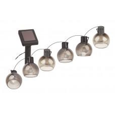 ERAGS08-06 ЭРА Садовая гирлянда 10 подсвечиваемых  светодиодами лампочек.Общая длина от солнечной па