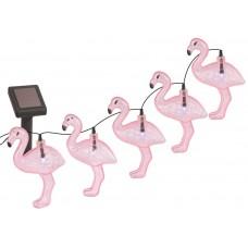 ERADG012-07 ЭРА Садовая гирлянда 10 подсвечиваемых  светодиодами фламинго.Общая длина от солнечной п
