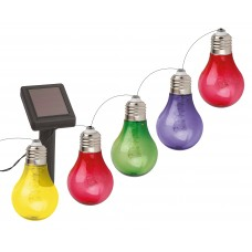 ERAGS024-03 ЭРА Садовая гирлянда 10 подсвечиваемых  светодиодами лампочек.Общая длина от солнечной п