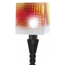 SL-PL20-СUB ЭРА Садовый светильник на солнечной батарее, пластик, прозрачный, черный, 20 см (24/648)