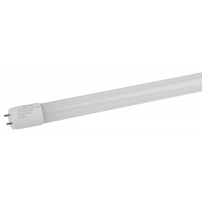 ECO LED T8-10W-865-G13-600mm ЭРА (диод,трубка стекл,10Вт,хол,непов. G13) (30/1680)