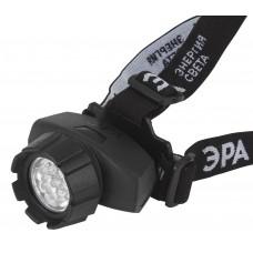 GB-602 Фонарь ЭРА налобный [7xLED, 3xAAA, 4 реж., черный, бл] (10/60/480)