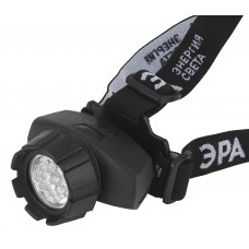 GB-604 Фонарь ЭРА налобный [18xLED, 3xAAA, 4 реж., черный, бл] (10/60/480)