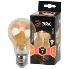 F-LED A60-7W-827-E27 gold ЭРА (филамент, груша золот., 7Вт, тепл, Е27) (10/100/1500)