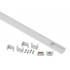 2206 ЭРА Комплект с врезным анодированным профилем с фланцем CAB251 21х6мм, 2м (5/80/2400)