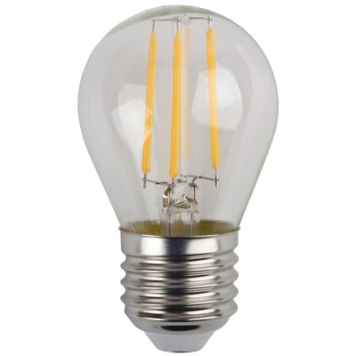 F-LED P45-5W-840-E27 ЭРА (филамент, шар, 5Вт, нейтр, E27), (10/100/3600)