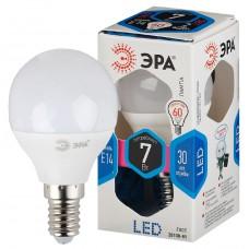 LED P45-7W-840-E14 ЭРА (диод, шар, 7Вт, нейтр, E14), (10/100/3000)