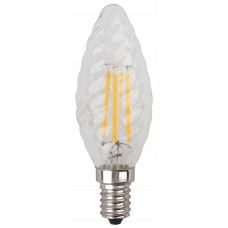 F-LED BTW-7W-827-E14 ЭРА (филамент, свеча витая, 7Вт, тепл, E14) (10/100/2800)