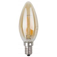 F-LED B35-5W-827-E14 gold ЭРА (филамент, свеча золот., 5Вт, тепл, E14) (10/100/2800)