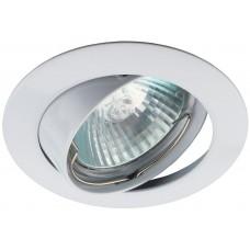 KL1A WH Светильник ЭРА литой простой пов. MR16,12V/220V, 50W белый (100/2100)