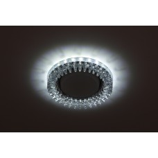 DK LD20 SL/WH Светильник ЭРА декор cо светодиодной подсветкой Gx53, прозрачный (30/720)