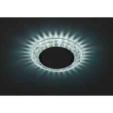 DK LD24 BL/WH Светильник ЭРА декор cо светодиодной подсветкой Gx53, голубой (50/800)
