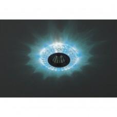 DK LD2 SL/BL+WH Светильник ЭРА декор cо светодиодной подсветкой (голубой+белый), прозрачный (50/1400