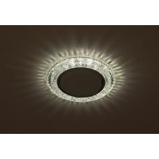 DK LD26 SL/WH Светильник ЭРА декор cо светодиодной подсветкой Gx53, прозрачный (50/800)