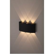 WL12 BK Светильник ЭРА Декоративная подсветка светодиодная ЭРА 6*1Вт IP 54 черный (20/800)