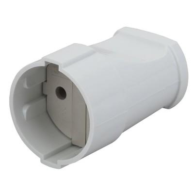 Rx1-W ЭРА Rx1 ЭРА Розетка кабельная б/з прямая 10A белая (24/384/4608)