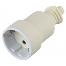 R4(W)  ЭРА Розетка кабельная c/з 16A прямой ввод белая (10/200/4000)