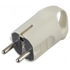 V3  ЭРА Вилка c/з 16A с кольцом непрямой ввод белая (10/200/5000)