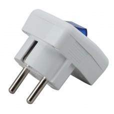 Vx5-W ЭРА Vx5 ЭРА Вилка с/з с выключателем 16A белая (24/480/3840)