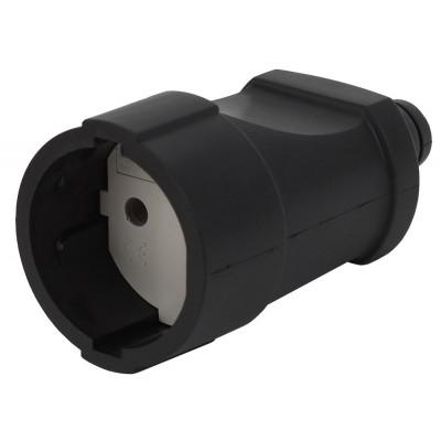 Rx3-B ЭРА Rx3 ЭРА Розетка кабельная б/з прямая ПВХ 10A черная (20/320/2560)