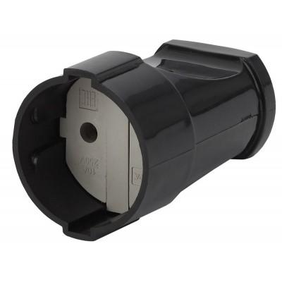 Rx1-B ЭРА Rx1 ЭРА Розетка кабельная б/з прямая 10A черная (24/384/4608)