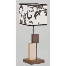 Настольная лампа Alfa Qube Brown 9414 светлое дерево, венге