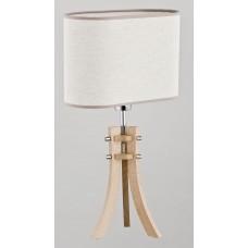 Настольная лампа Alfa Defa 9421 светлое дерево, хром