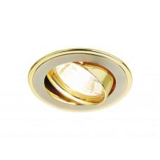 Встраиваемый поворотный светильник 104A SN/G сатин никель/золото MR16