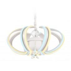 Светодиодная люстра с пультом FL111/6 WH белый 132W 3000K/6400K 550*550*250 (ПДУ РАДИО 2.4)