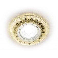 Встраиваемый точечный светильник со светодиодной лентой S305 CH/W хром/прозрачный хрусталь/MR16+3W(LED WARM)