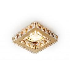 Встраиваемый точечный светильник K110 CL/G золото/прозрачный хрусталь MR16
