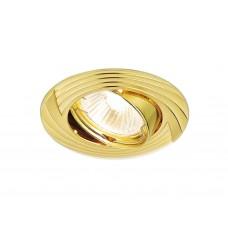 Встраиваемый поворотный светильник 722 GD золото MR16