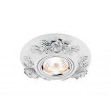 Встраиваемый потолочный точечный светильник D5503 W/CH белый хром керамика
