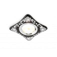 Встраиваемый потолочный точечный светильник D2065 BK/CH черный хром