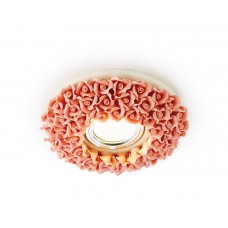 Встраиваемый потолочный точечный светильник D5505 PI розовый керамика