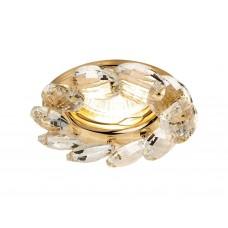 Встраиваемый точечный светильник K306 CL/G золото/прозрачный хрусталь