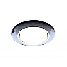 Встраиваемый точечный светильник G8077 BK хром/тонированный GX53