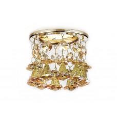 Встраиваемый точечный светильник K2233 G/TI золото/янтарный