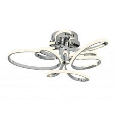 Потолочный светодиодный светильник без пульта FL336/3 CH хром 78W 4200K 600*600*170 (Без ПДУ)